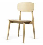 silla de comedor de madera clara