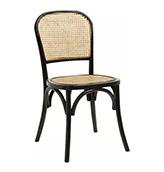 silla de madera de comedor de color negro