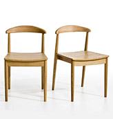 sillas de madera de roble