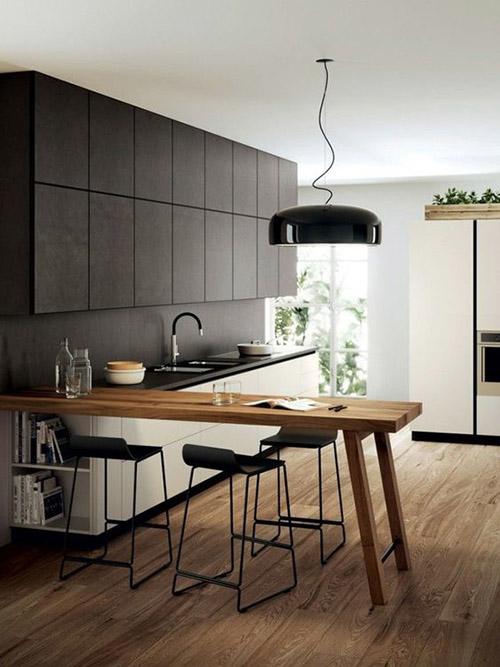 decoración de cocinas con taburetes