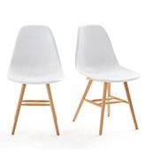 Lote de dos sillas de estilo nórdico