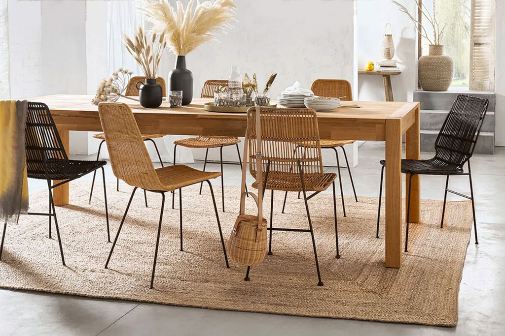 sillas de ratán para comedor