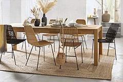 sillas de comedor de ratán