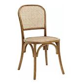 silla de ratan y madera
