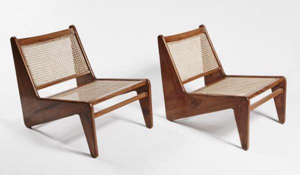 Sillas de madera y rattán de diseño
