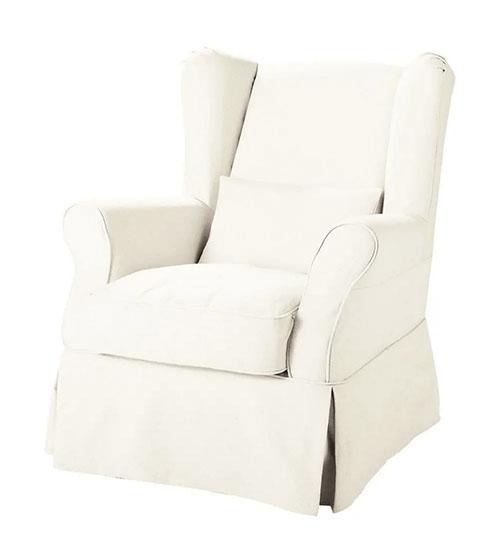 sillón de estilo rústico de color blanco