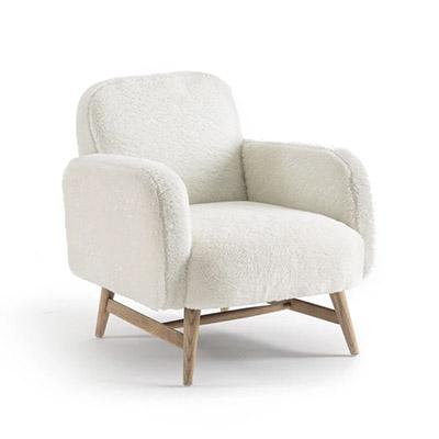 sillón de estilo nórdico de pelo sintético