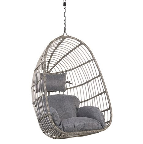 sillón suspendido de ratán
