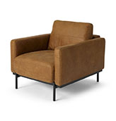 sillón de piel de cuero