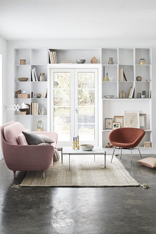sofá y sillón tapizado de estilo y diseño nórdico