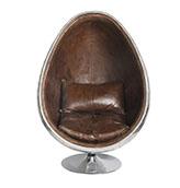 sillón de piel de cuero estilo industrial