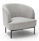 sillón de diseño escandinavo de color gris claro