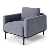 sillón tapizado azul