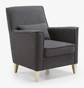 sofá tapizado gris oscuro
