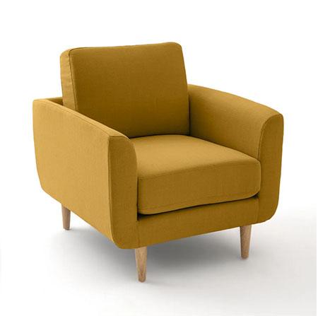 sillón amarillo mostaza estilo nórdico