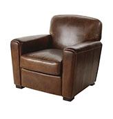 sillón industrial  de piel de cuero