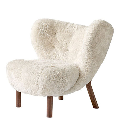 Sillón diseño moderno tapizado blanco