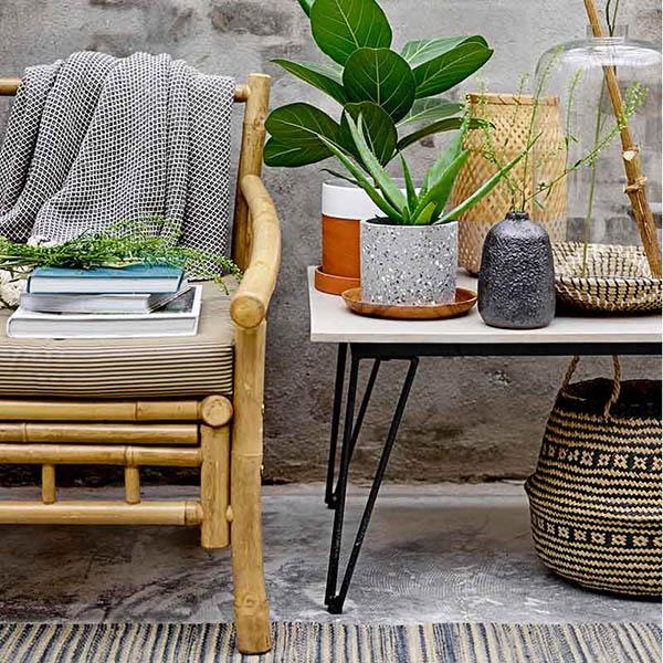 butacas y sillones de bambú para el jardín