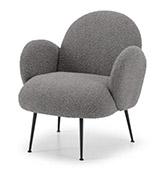 sillón tapizado gris oscuro