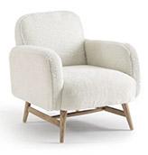 sillón nordico de piel