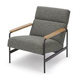 sillón de tela gris