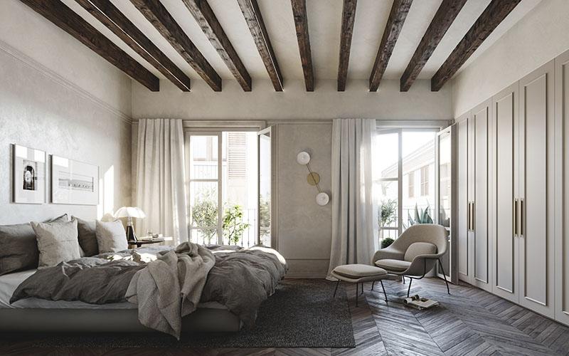 sillón de tela para la decoración de una habitación