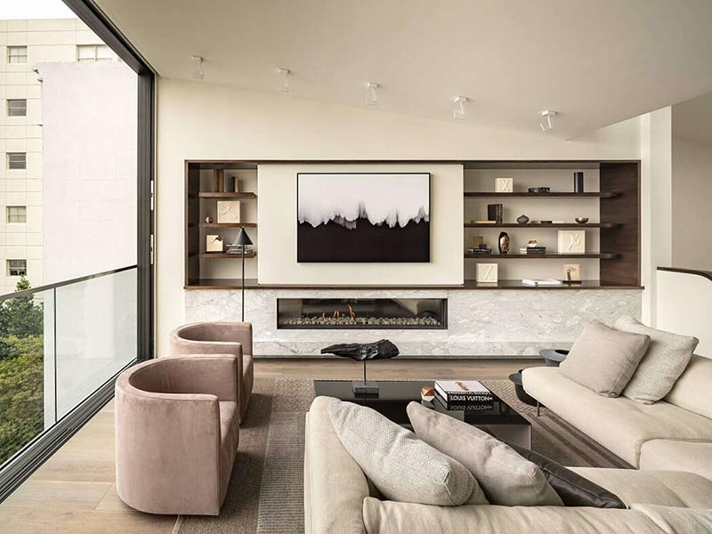 Muebles en tonos neutros
