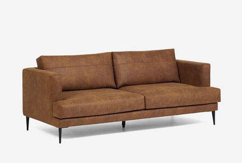 sofá de tela de color marrón