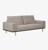 sofa 3 plazas de color beige