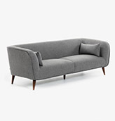 sofa 3 plazas de estilo nórdico de color gris