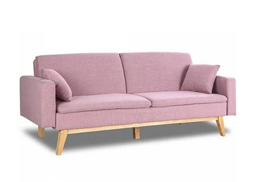 sofá 3 plazas rosa chicle