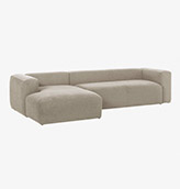 sofa chaise longue esquinero de color beige