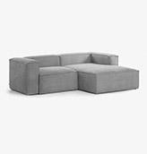 sofá gris claro