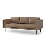 sofá tres plazas de piel de cuero