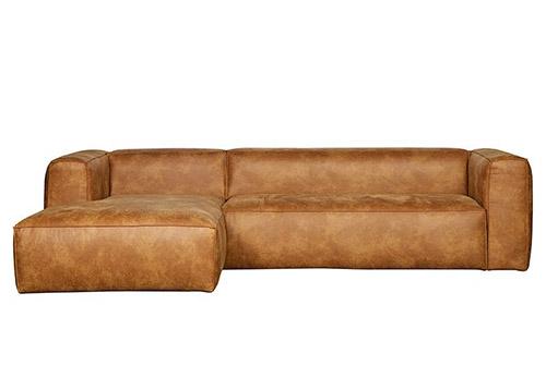 sofá esquinero marrón claro