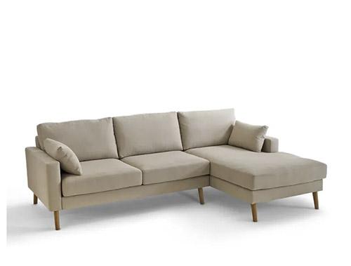 sofa beige chaise longue