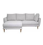 sofa esquinero de color gris claro