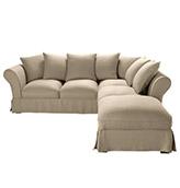 sofa esquinero de estilo rústico de lino