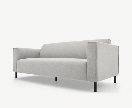 sofa minimalista gris