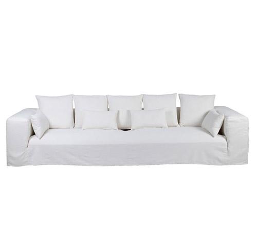 sofa lino blanco