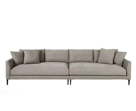 sofá 5 plazas de algodón y lino