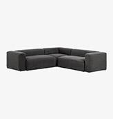 sofa esquinero de color gris oscuro