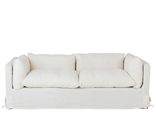 sofa lino blanco desenfundable