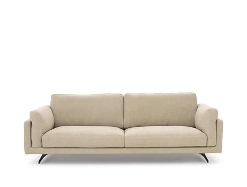 sofá de lino color crema