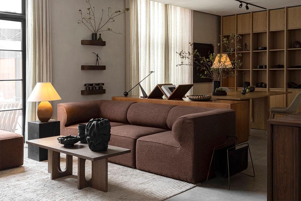 Sofá marrón
