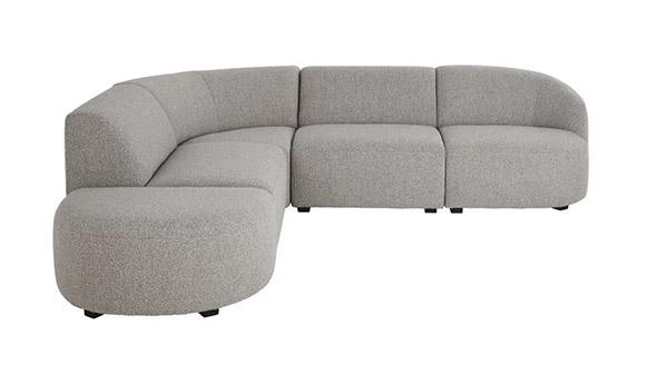 sofá modular gris de diseño moderno