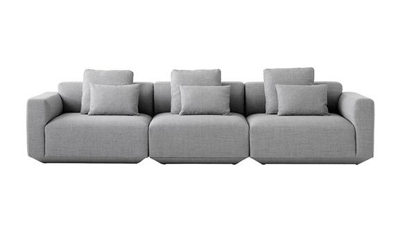 sofá modular de diseño moderno con cojines