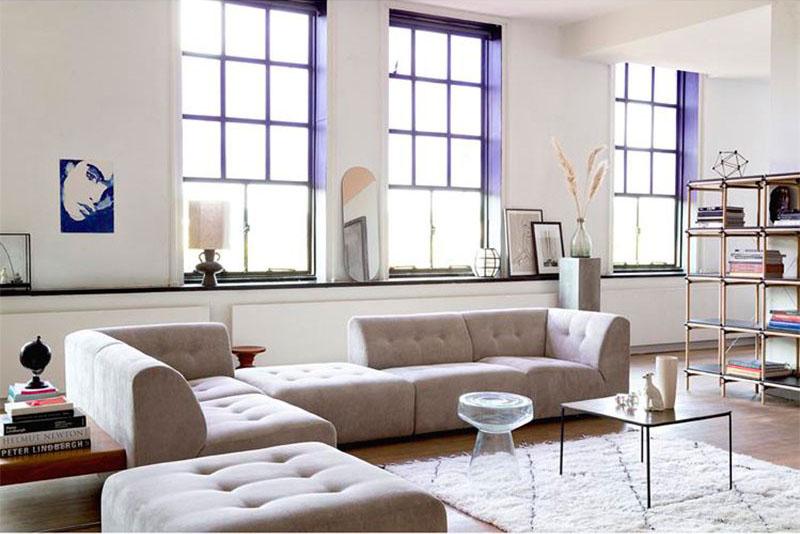sofás modulares para un salón moderno