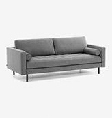 sofa 2 plazas de color gris