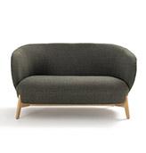 sofa 2 plazas de diseño nórdico de color verde